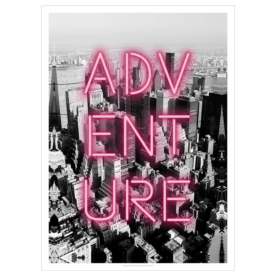 """<p>Adventure is out there, but you'll feel a lot closer to the action with this <a href=""""https://www.popsugar.com/buy/Pj%C3%A4tteryd-Pink-Neon-Picture-474388?p_name=Pj%C3%A4tteryd%20Pink%20Neon%20Picture&retailer=ikea.com&pid=474388&price=40&evar1=casa%3Aus&evar9=46436410&evar98=https%3A%2F%2Fwww.popsugar.com%2Fhome%2Fphoto-gallery%2F46436410%2Fimage%2F46436448%2FPj%C3%A4tteryd-Pink-Neon-Picture&list1=home%20decor%2Cikea%2Chome%20decorating%2Cwall%20art&prop13=api&pdata=1"""" rel=""""nofollow"""" data-shoppable-link=""""1"""" target=""""_blank"""" class=""""ga-track"""" data-ga-category=""""Related"""" data-ga-label=""""http://www.ikea.com/us/en/catalog/products/20448216/"""" data-ga-action=""""In-Line Links"""">Pjätteryd Pink Neon Picture</a> ($40) designed by Joseph Eta. </p>"""