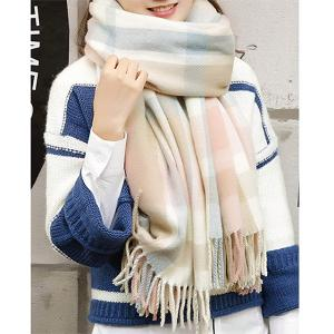"<span class=""caption"">YSense Women's Long Plaid Blanket Chunky Oversized Winter/Fall Warm Scarf (Pink Blue)</span> <span class=""credit"">Amazon</span>"