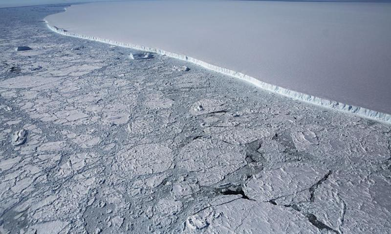 Ice in the Antarctic
