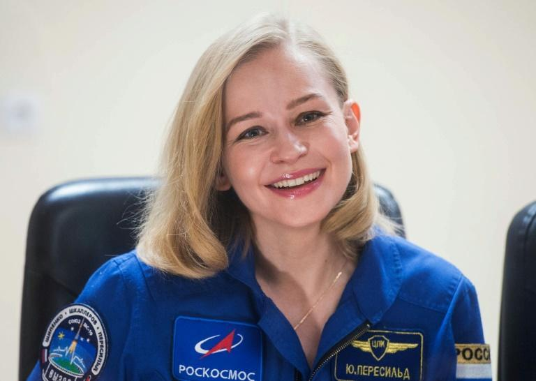 Yulia Peresild will play a surgeon called on to operate aboard the International Space Station (AFP/Andrey SHELEPIN)
