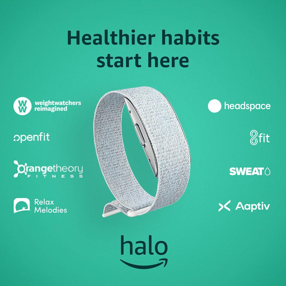 """<h2>Best Wellness<br></h2><br><h3>Amazon Halo Band</h3><br>We know what you're thinking: A sans-screen fitness tracker? The idea behind Amazon's Halo is to minimize distractions and notifications, so you can focus on living your best life. When paired with the accompanying <a href=""""https://amzn.to/3jAnImW"""" rel=""""nofollow noopener"""" target=""""_blank"""" data-ylk=""""slk:Halo app"""" class=""""link rapid-noclick-resp"""">Halo app</a> (for which a paid $3.99/month membership is required), you can access premium classes from brands and studios including P.volve, Headspace, and Orangetheory.<br><br><strong>Amazon</strong> Halo Band, $, available at <a href=""""https://amzn.to/3jyKUSs"""" rel=""""nofollow noopener"""" target=""""_blank"""" data-ylk=""""slk:Amazon"""" class=""""link rapid-noclick-resp"""">Amazon</a>"""