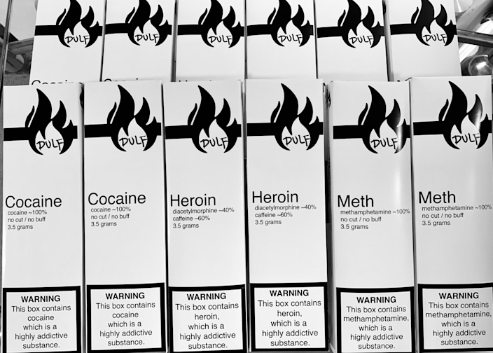 Vancouver's Drug User Liberation Front have been handing out free samples of clean, checked drugs in clearly labelled boxes marked with what was in the drugs and at what percentage (JeanSwanson/Twitter)