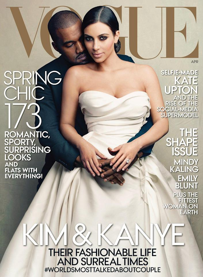 The pair's nuptials became the cover image of society bible Vogue - AP/Annie Leibovitz