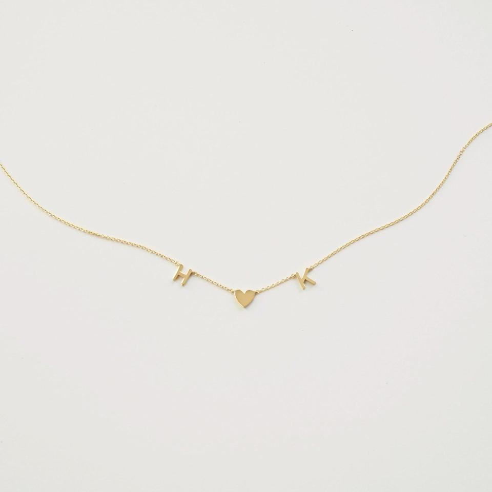 <p>We love the simple yet elegant look of this <span>Grace Personalized Custom Letter Necklace</span> ($38 and up).</p>