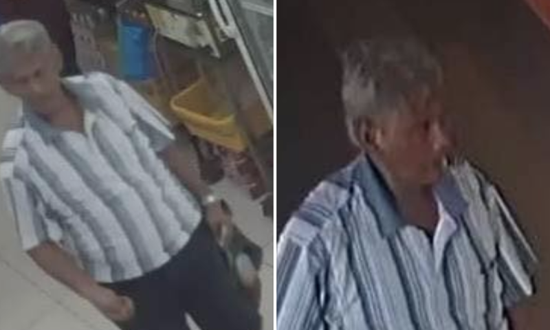 Omar Abdullah, 67, was charged with one count of attempted armed robbery of a pawnshop at Block 213 Bedok North Street 1. (PHOTOS: Singapore Police Force/Facebook)