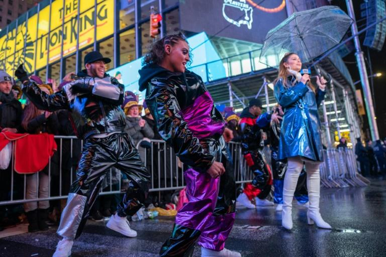 Crowds packed into New York's Times Square to ring in 2020