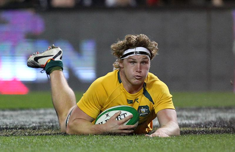 Captain of Australian Wallabies, Michael Hooper, seen in action during a rugby union int'l match at Aviva Stadium in Dublin, on November 16, 2013
