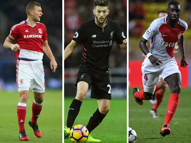 Gibson, Lallana and Bakayoko are all big money targets – it seems