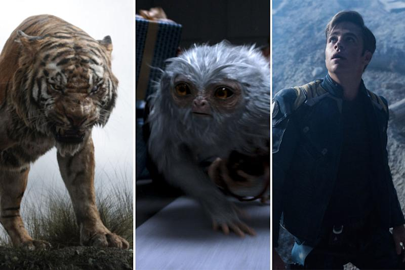 The Jungle Book, Fantastic Beasts, Star Trek Beyond (Credit: Disney/Warner Bros./Paramount)