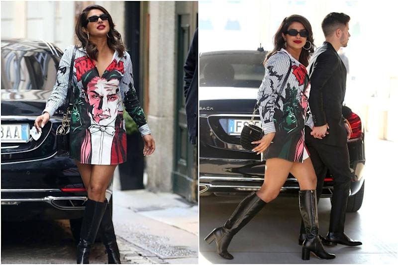 Priyanka Chopra Jonas Spotted Wearing Dracula Print Shirt on a Romantic Outing with Nick Jonas