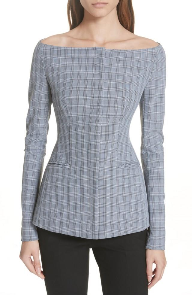 Theory plaid bateau jacket