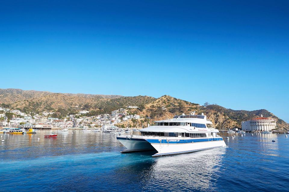 """<p><strong>Tell me: What's this boat all about?</strong> With quick and affordable trips to-and-from Catalina's two main ports—Avalon and Two Harbors—this is the most efficient and affordable way to get to Catalina unless you want to charter a private yacht.</p> <p><strong>What's it like being aboard?</strong> This no-frills ferry will remind you of the commuter boats in Greece that shuttle tourists from island to island, but no matter, it's a quick and easy way to get out of the city for the day, and potentially do some wildlife spotting along the way, especially if its whale migration season, which peaks from early summer to early fall.</p> <p><strong>Is there a guide involved?</strong> There's a captain, but if you want a more guided experience that's focused on whale watching, you'd be better off going for a charter from Dana Point or Newport Beach.</p> <p><strong>Who comes here?</strong> Day trippers and families looking for a quick escape from the hustle and bustle of the city, dive enthusiasts looking to explore <a href=""""https://www.cntraveler.com/activities/avalon/casino-point-dive-park?mbid=synd_yahoo_rss"""" rel=""""nofollow noopener"""" target=""""_blank"""" data-ylk=""""slk:the world-renowned kelp forests,"""" class=""""link rapid-noclick-resp"""">the world-renowned kelp forests,</a> and local school kids on field trips.</p> <p><strong>Did it meet expectations?</strong> A trip out to Catalina is definitely one of those experiences that makes even locals wonder why it took them so long to explore the natural aquarium right in their own backyard.=</p>"""