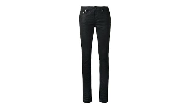 "<p>Coated skinny jeans, $550, <a href=""https://www.farfetch.com/shopping/women/saint-laurent-coated-skinny-jeans-item-12191950.aspx?fsb=1&utm_source=polyvore.com&utm_medium=affiliate&utm_campaign=NSFUS_desktop&pid=polyvore.us&af_channel=affiliate&is_retargeting=true"" rel=""nofollow noopener"" target=""_blank"" data-ylk=""slk:farfetch.com"" class=""link rapid-noclick-resp"">farfetch.com</a> </p>"