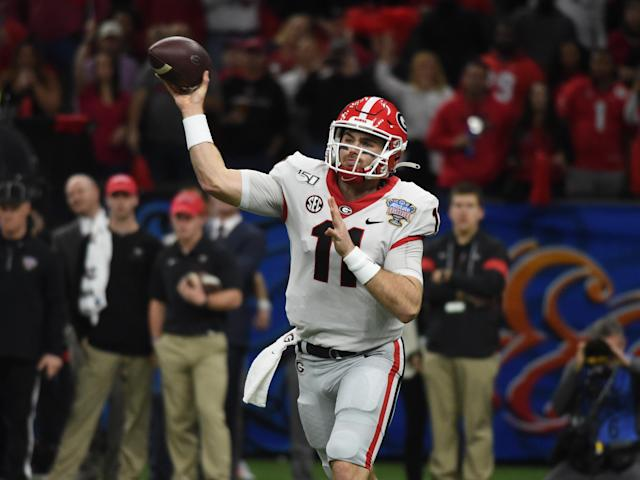 Bills rookie Jake Fromm apologized Thursday after offensive and insensitive texts messages of his were posted to social media. (Jeffrey Vest/Icon Sportswire/Getty Images)