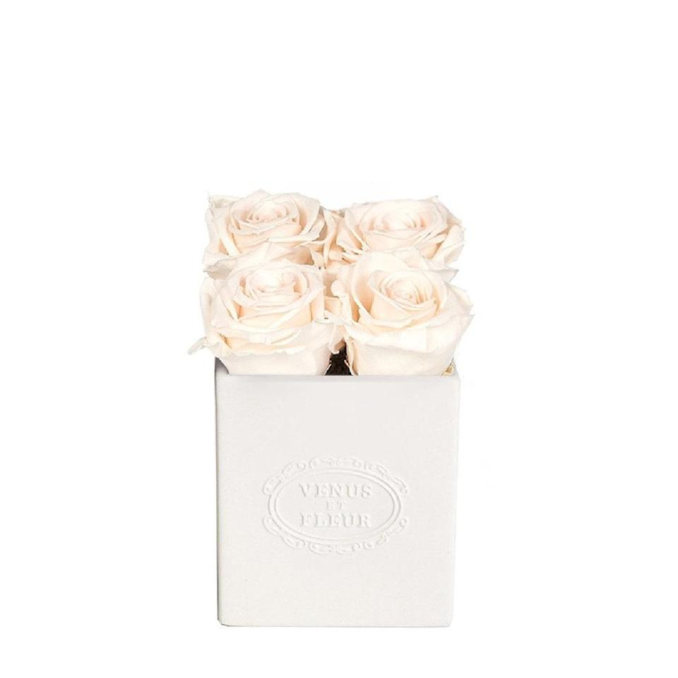 """Forever flowers are on point for just about any occasion—birthdays, Mother's Day, you name it. The off-white ceramic vessel adds an elegant touch, and feels even more special than the traditional black or white box. $199, Venus Et Fleur. <a href=""""https://www.venusetfleur.com/collections/maison/products/sylvie-vase?variant=34667368710188"""" rel=""""nofollow noopener"""" target=""""_blank"""" data-ylk=""""slk:Get it now!"""" class=""""link rapid-noclick-resp"""">Get it now!</a>"""