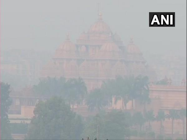 Near Akshardham temple. (Photo/ANI)
