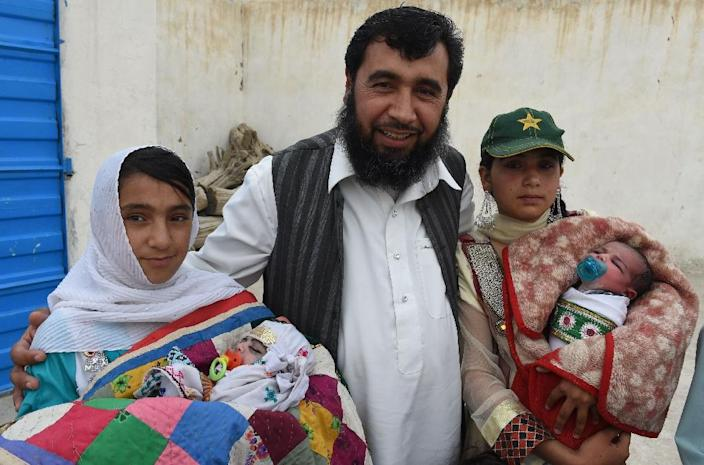 Sardar Jan Mohammad Khilji, 46, says he believes it is his religious duty to have as many children as possible (AFP Photo/Banaras Khan )