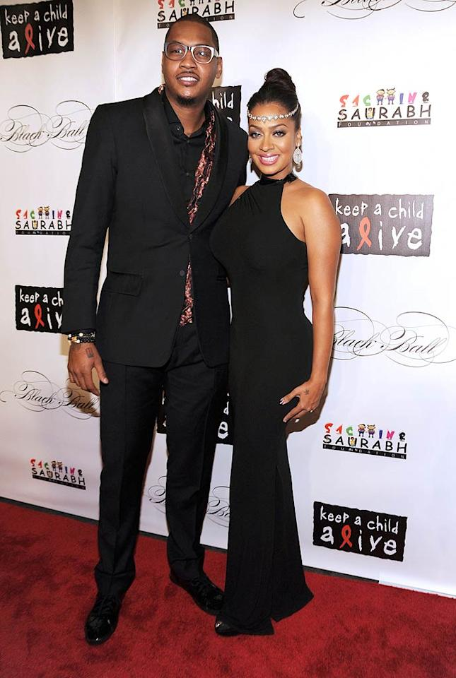 NBA star Carmelo Anthony and wife La La Vazquez were in attendance, although La La seemed to be spending most of her time with her gal pal Serena Williams. The reality star even tweeted a pic of the two ladies all gussied up for the gala. (11/3/2011)