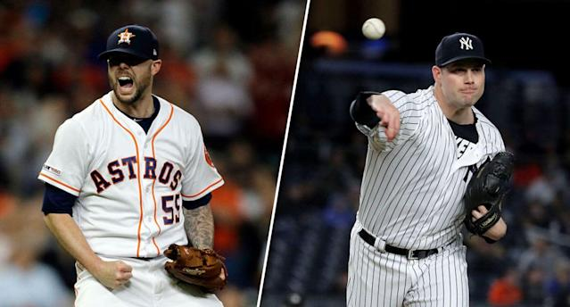 It's the best time to own some elite, non-closer relievers. (Photos by Bob Levey/Elsa/Getty Images)