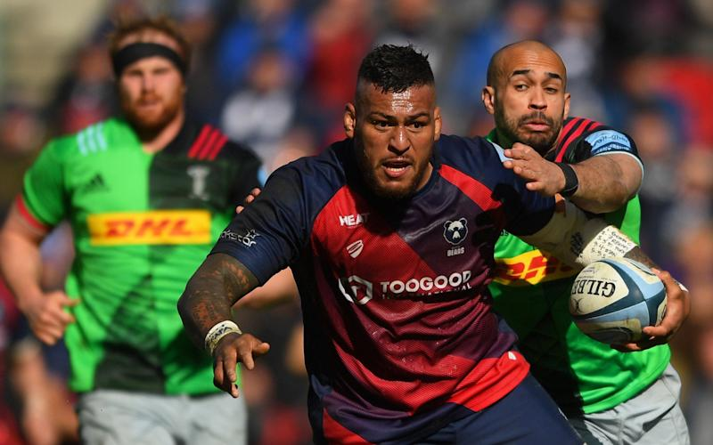 Nathan Hughes in action for Bristol against Harlequins - GETTY IMAGES
