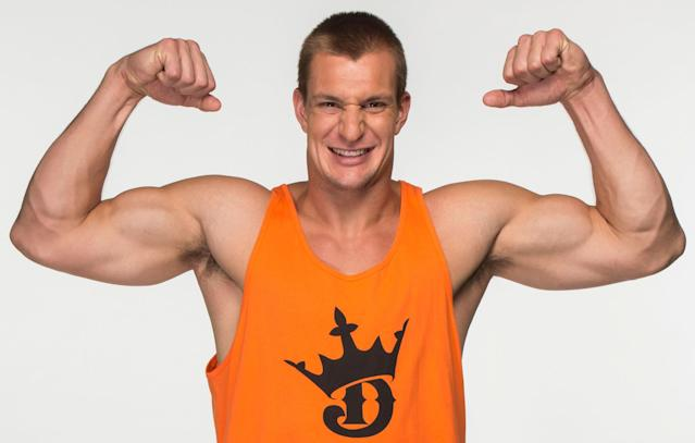 Rob Gronkowski in a 2015 ad for DraftKings. (Danny Hastings/DraftKings)