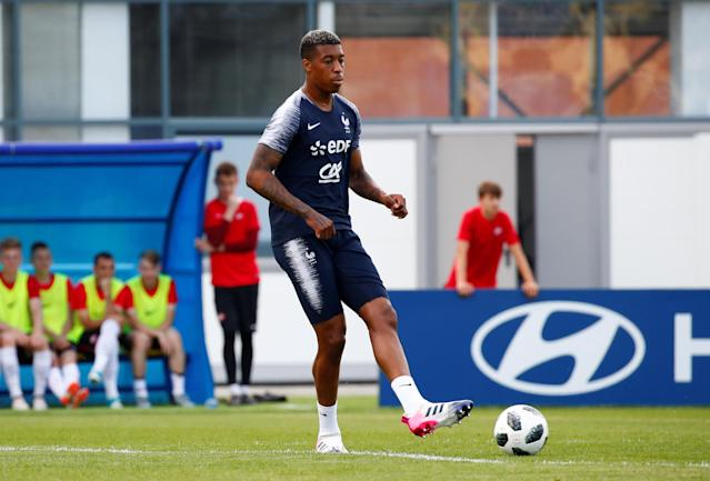 Soccer Football - World Cup - France Training - France Training Camp, Moscow, Russia - June 22, 2018 France's Presnel Kimpembe during training REUTERS/Axel Schmidt