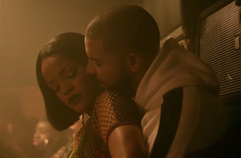 "<p>Drake and Rihanna got together (musically) again for her song ""Work."" However, Rihanna <a href=""http://www.billboard.com/articles/news/6866848/rihanna-drake-ellen-george-clooney-nude-selfie"" rel=""nofollow noopener"" target=""_blank"" data-ylk=""slk:clarified her relationship status"" class=""link rapid-noclick-resp"">clarified her relationship status</a> when talking with Ellen DeGeneres. ""I'm single right now and it's not that I'm like, 'Oh, pro-single, yes, I hate men!' I just think I have so much on my plate that I can't even find the time to entertain a steady relationship or anything serious,"" she said. ""Or even a text."" (Photo: Vevo) </p>"