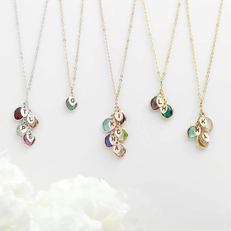 <p>Create a whole family tree with the <span>Birthstone Initial Necklace</span> ($17). It's a great gift for mom, grandmothers, aunts, and more!</p>