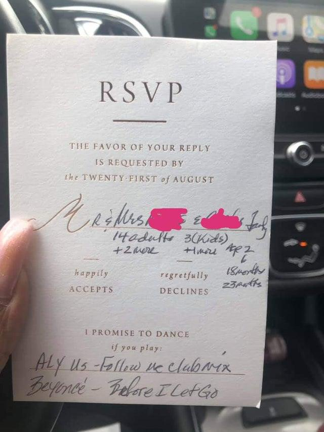 The shocked bride shared an image online of their response by post [Image: Reddit]