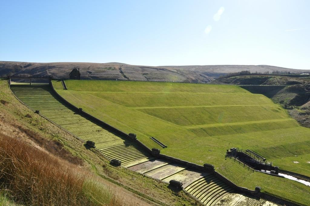 Butterley Spillway, Marsden, west Yorkshire: The imposing and spectacular spillway - the only listed structure of its kind in the UK - was designed to allow water release during heavy rain. It is under threat from planners who want to remove its steps and replace its walls with concrete. (Dianne Ellis/The Victorian Society)
