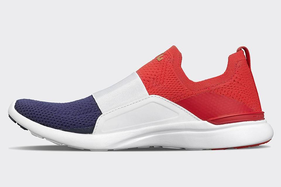 APL x Nastia Liukin TechLoom Bliss in the red, white and blue colorway. - Credit: Courtesy of APL.