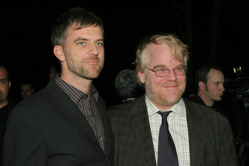 Paul Thomas Anderson and Philip Seymour Hoffman during 21st Annual Santa Barbara International Film Festival - The Riviera Award Honoring Phillip Seymour Hoffman at Marjorie Luke in Santa Barbara, CA, United States. (Photo by Rebecca Sapp/WireImage)