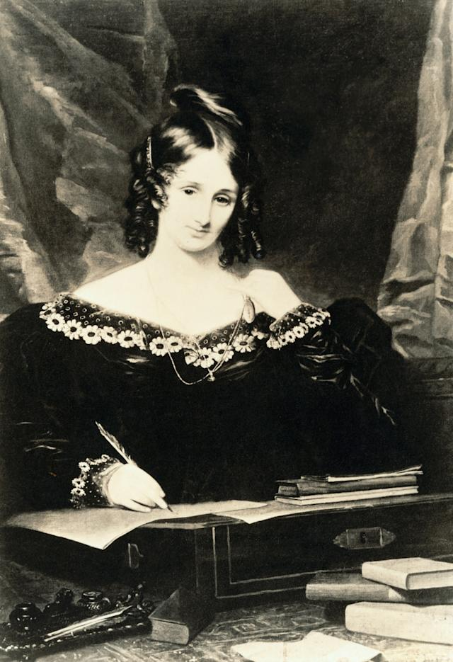 "English author Mary Shelley was just 18 years old when she wrote Frankenstein, which many credit as the origin of <span>science fiction</span>. Thus, Shelley has been called <span>""the teenage girl who invented science fiction.""</span>"