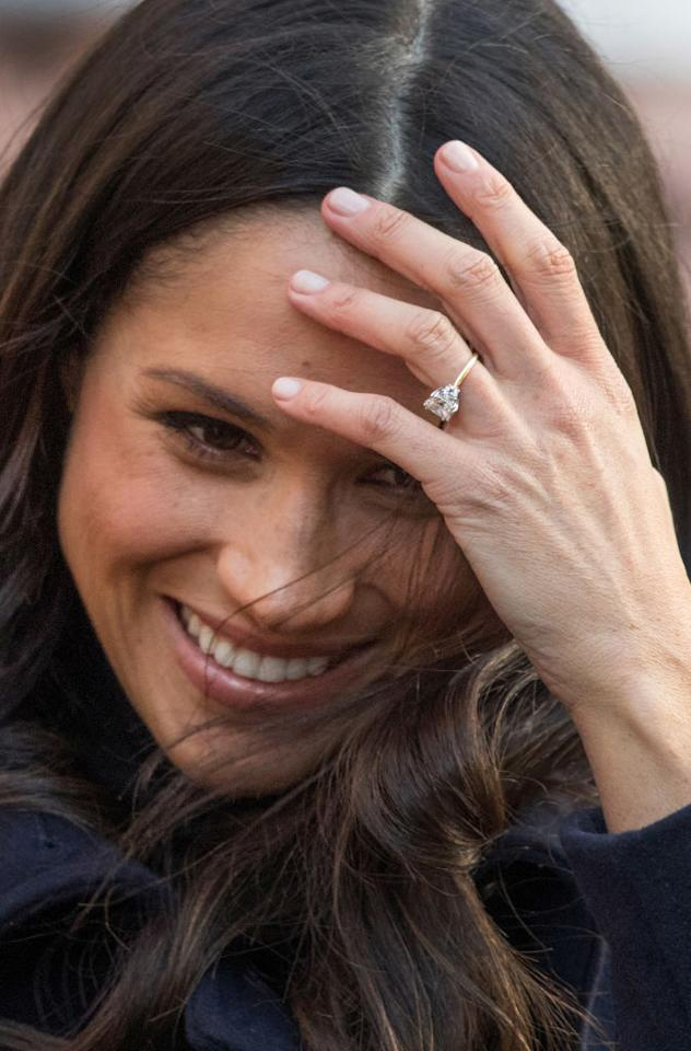 """<p>After marrying Harry, Meghan will <a rel=""""nofollow"""" href=""""https://ca.style.yahoo.com/4-unofficial-royal-rules-meghan-035649170.html"""">break tradition again</a> — this time by simply having college education — the only other royal bride who has a college education is <a rel=""""nofollow"""" href=""""https://ca.style.yahoo.com/why-kate-middleton-wont-sign-slideshow-wp-201315694/photo-p-duchess-cambridge-becomes-queen-photo-154515170.html"""">Kate Middleton</a>!<br /><em><strong>(Click through for more) </strong>(Photo: Getty) </em> </p>"""