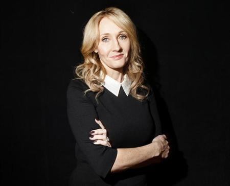 """Author Rowling poses for a portrait while publicizing her adult fiction book """"The Casual Vacancy"""" in New York"""