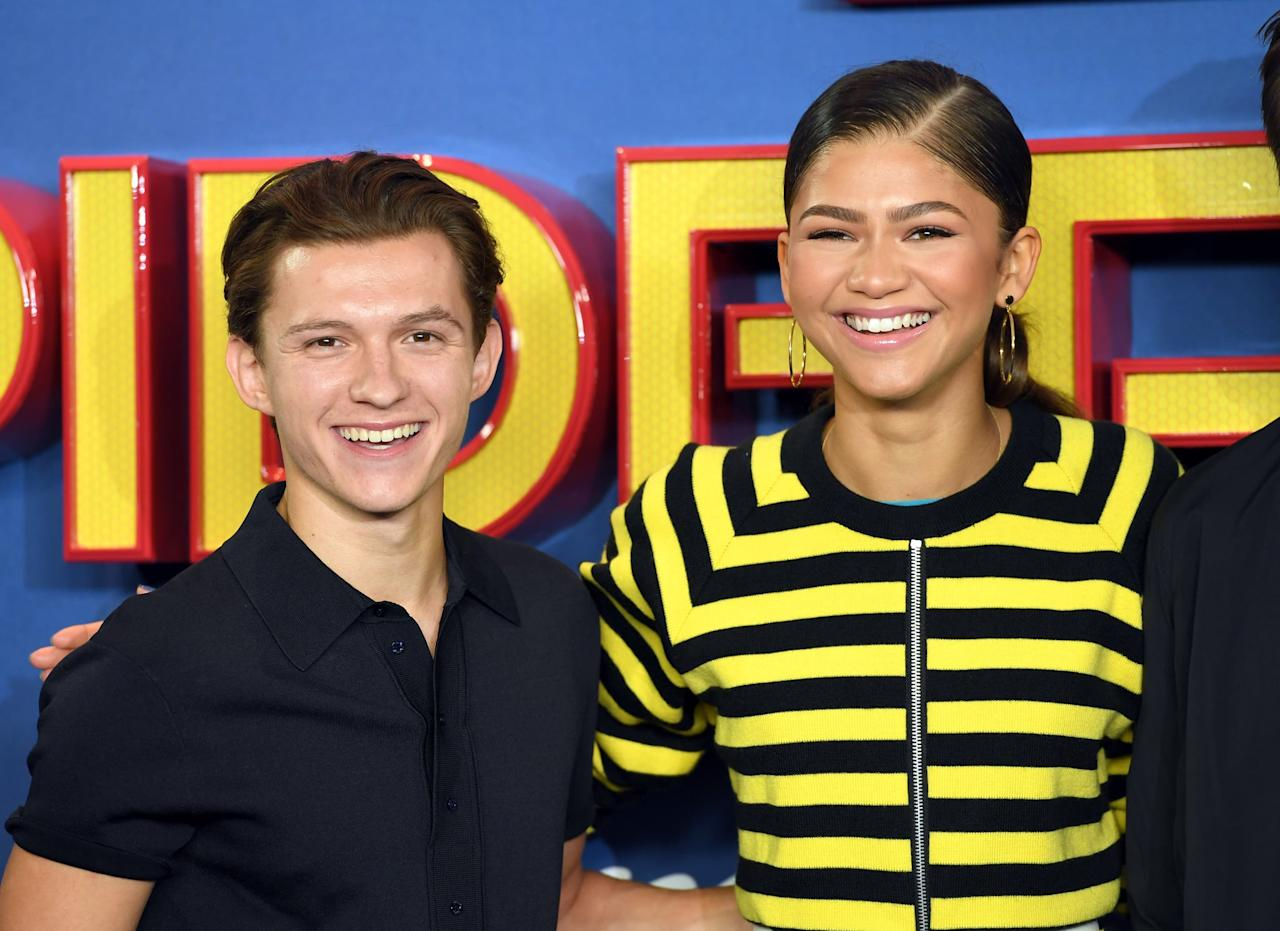 """<p>Per <strong>Heightline</strong>, Zendaya began dating her <strong>Spiderman: Homecoming</strong> costar <a href=""""http://www.popsugar.com/Tom-Holland"""" class=""""ga-track"""" data-ga-category=""""Related"""" data-ga-label=""""http://www.popsugar.com/Tom-Holland"""" data-ga-action=""""In-Line Links"""">Tom Holland</a> in the Summer of 2017. For a while, both Zendaya and Tom <a href=""""http://heightline.com/zendaya-relationships/"""" style=""""background-color: rgb(255, 255, 255);"""" target=""""_blank"""" class=""""ga-track"""" data-ga-category=""""Related"""" data-ga-label=""""http://heightline.com/zendaya-relationships/"""" data-ga-action=""""In-Line Links"""">denied anything romantic was going on between them</a> until the mother of Zendaya's close friend, Skai Jackson, added fuel to the rumor mill. Replying to another user's comment on a <a href=""""http://www.instagram.com/p/BnOnExClRek/?hl=en"""" style=""""background-color: rgb(255, 255, 255);"""" target=""""_blank"""" class=""""ga-track"""" data-ga-category=""""Related"""" data-ga-label=""""http://www.instagram.com/p/BnOnExClRek/?hl=en"""" data-ga-action=""""In-Line Links"""">JustJared Instagram post</a> that questioned the pair's relationship, Kiya Cole shared, """"Yes. It's true. They been on the low for a while."""" Tom and Zendaya have always played coy though, with Tom <a href=""""http://www.instagram.com/p/BnMhE0pFXyK/?utm_source=ig_embed"""" target=""""_blank"""" class=""""ga-track ga-track"""" data-ga-category=""""Related"""" data-ga-label=""""http://www.instagram.com/p/BnMhE0pFXyK/?utm_source=ig_embed"""" data-ga-action=""""In-Line Links"""" style=""""background-color: rgb(255, 255, 255);"""">posting an Instagram</a> soon after Kiya's comment where he stated that Zendaya was just a """"mate."""" Zendaya also <a href=""""http://variety.com/2017/film/features/zendaya-spider-man-homecoming-kc-undercover-1202516631/"""" style=""""background-color: rgb(255, 255, 255);"""" target=""""_blank"""" class=""""ga-track"""" data-ga-category=""""Related"""" data-ga-label=""""http://variety.com/2017/film/features/zendaya-spider-man-homecoming-kc-undercover-1202516631/"""" data-ga-action=""""In-Line Links"""">shut """