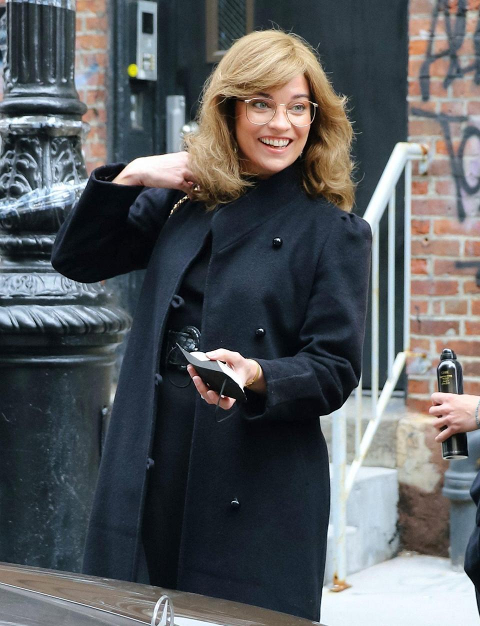 <p>Annie Murphy is seen filming an episode of <i>Russian Doll</i> on Thursday in N.Y.C. </p>