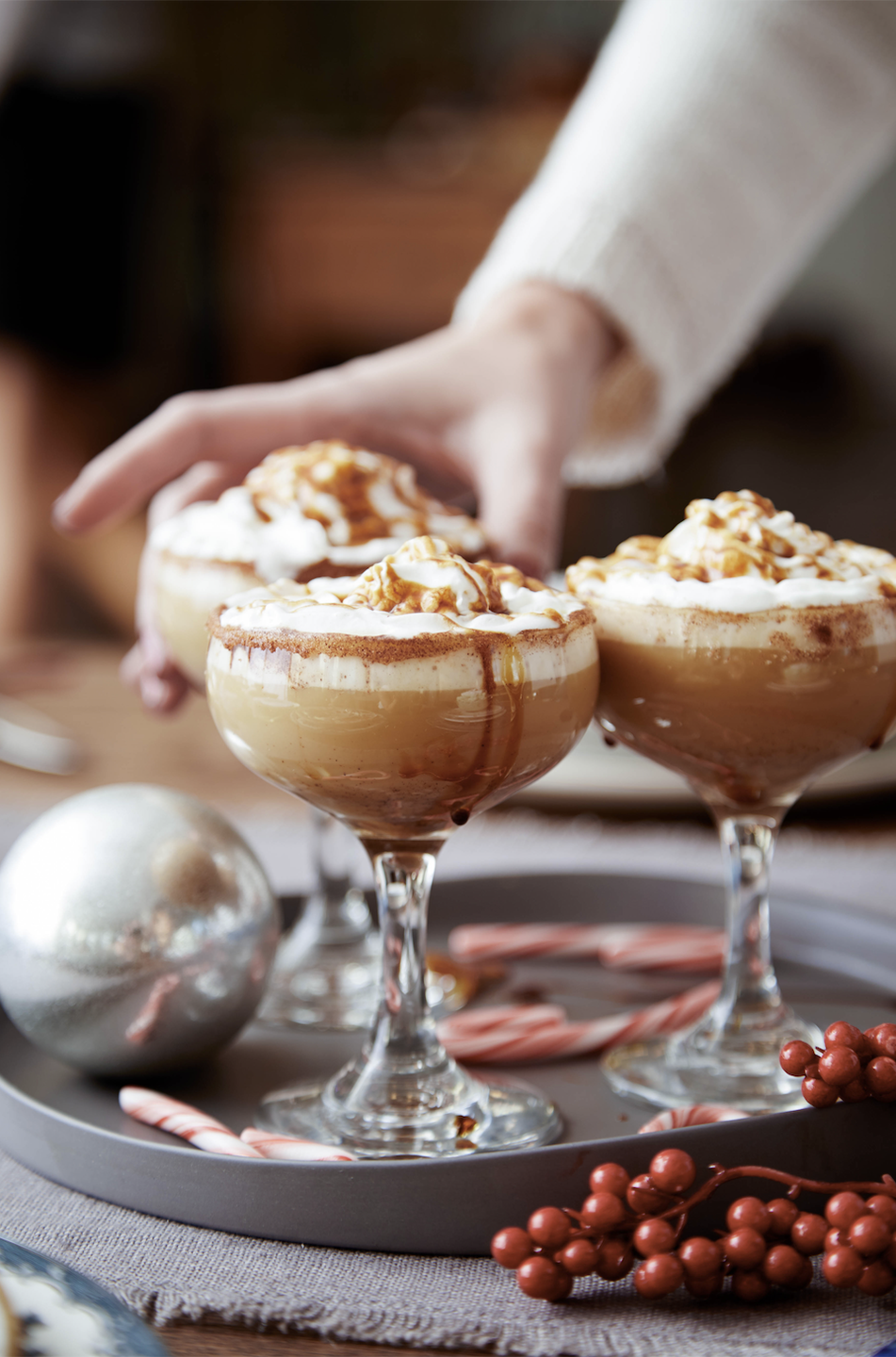 """<p>This boozy, festive drink makes for an easy dessert.</p><p>Get the recipe from <a href=""""https://www.delish.com/holiday-recipes/christmas/recipes/a45175/gingerbread-eggnog-white-russian-recipe/"""" rel=""""nofollow noopener"""" target=""""_blank"""" data-ylk=""""slk:Delish"""" class=""""link rapid-noclick-resp"""">Delish</a>.</p>"""