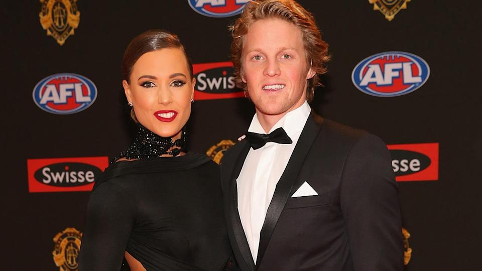 Rory and Belinda Sloane at the 2017 Brownlow Medal night. Pic: Getty