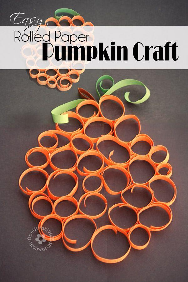 """<p>A much simpler version of paper quilling, this brightly colored pumpkin will look extra festive hanging in a window.</p><p><em><a href=""""http://onecreativemommy.com/easy-rolled-paper-pumpkin-craft/"""" rel=""""nofollow noopener"""" target=""""_blank"""" data-ylk=""""slk:Get the tutorial at One Creative Mommy »"""" class=""""link rapid-noclick-resp"""">Get the tutorial at One Creative Mommy »</a></em><br></p>"""
