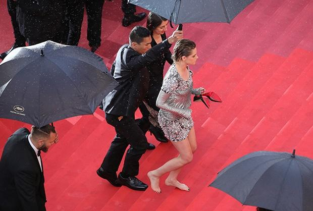 Kristen Stewart walks the red carpet at the Cannes