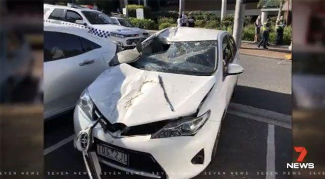 His car collided with Grant Fisher's vehicle. Source: 7 News
