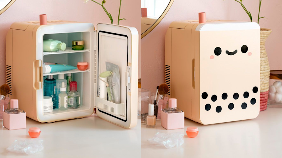 Keep your cosmetics (and whatever else you fancy) cool in this countertop fridge.