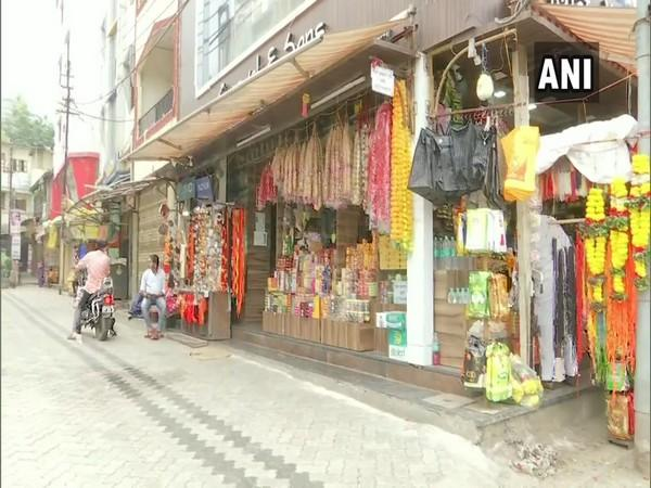 Shops outside Shirdi Sai Baba Temple. (Photo/ANI)