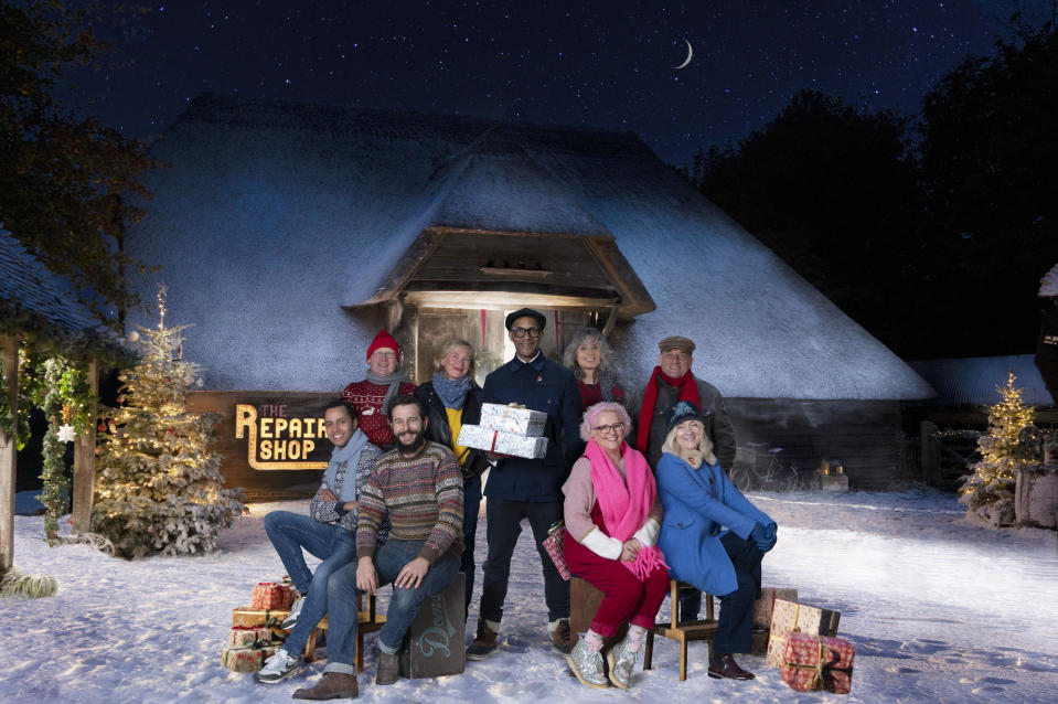 The Repair Shop at Christmas - Will Kirk, Mark Stuckey, Dominic Chinea, Kirsten Ramsay, Jay Blades, Suzie Fletcher, Amanda Middleditch, Steve Fletcher, Julie Tatchell - (Ricochet Ltd)