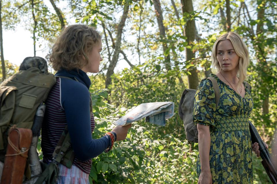 Regan (Millicent Simmonds) and Evelyn (Emily Blunt) in 'A Quiet Place Part II' (Photo: Jonny Cournoyer/Paramount Pictures)