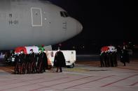 FILE PHOTO: The bodies of slain Italian ambassador and bodyguard return to Italy from the Congo