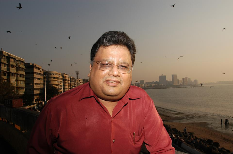 INDIA - DECEMBER 25:  Rakesh Jhunjhunwala, an equity investor, poses at an outdoor location in Mumbai, India. Potrait  (Photo by Umesh Goswami/The The India Today Group via Getty Images)