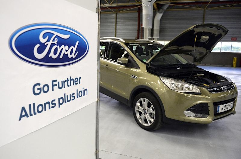 A Ford Kuga, the type of car that exploded and killed a South African man in 2015, is seen in France in 2013