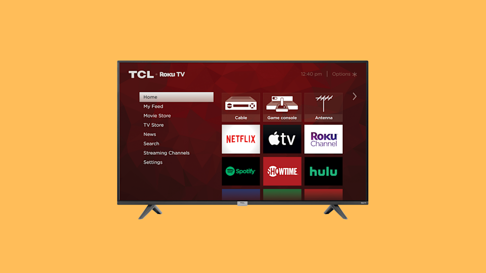 Amazon has reduced the price of this 40-inch TCL HD Smart LED Roku TV by just 100 100.  (Photo: Amazon)